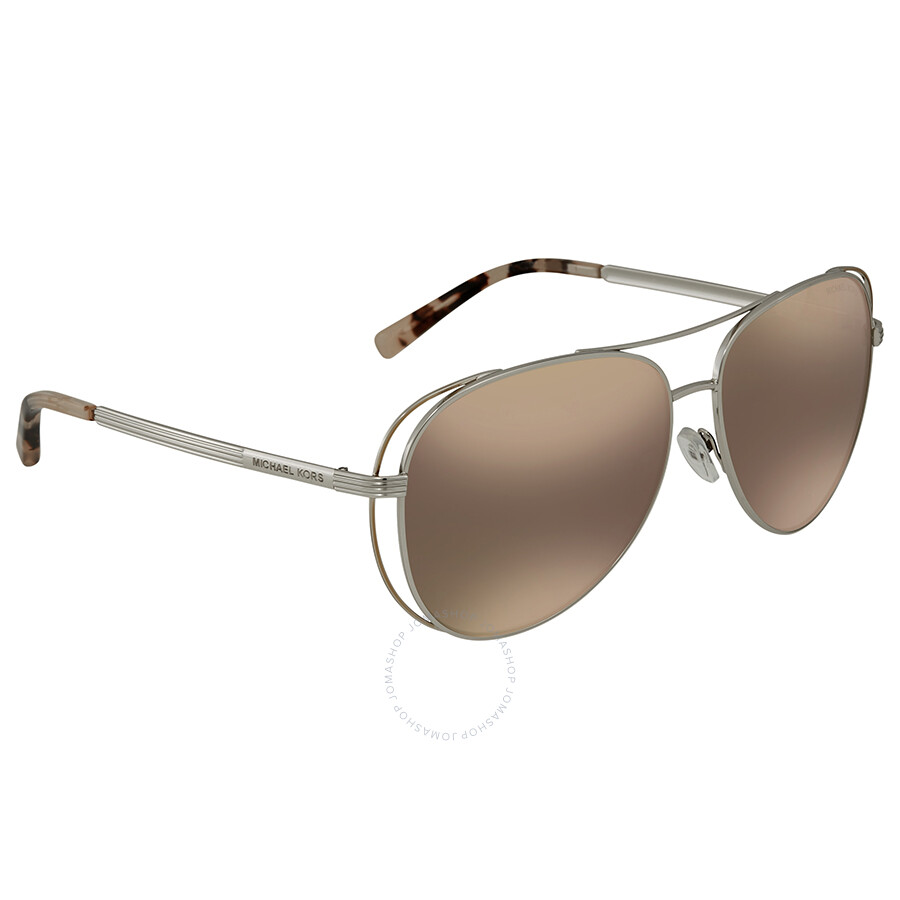 6a5fac8542 Michael Kors Lai Aviator Ladies Sunglasses MK1024 11765A 58 ...