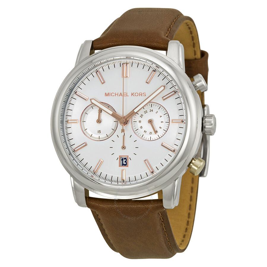 michael kors landaulet chronograph white s