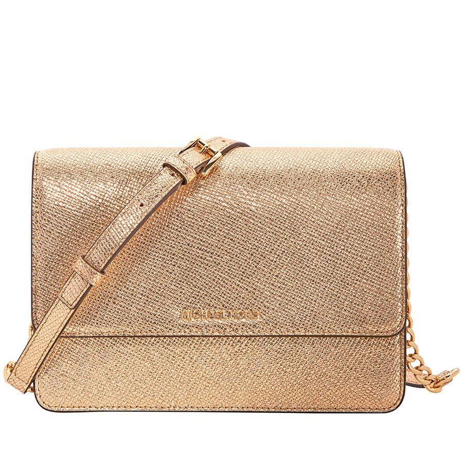 73b86eb48044e7 Michael Kors Large Crossbody Bag - Pale Gold - Michael Kors Handbags ...
