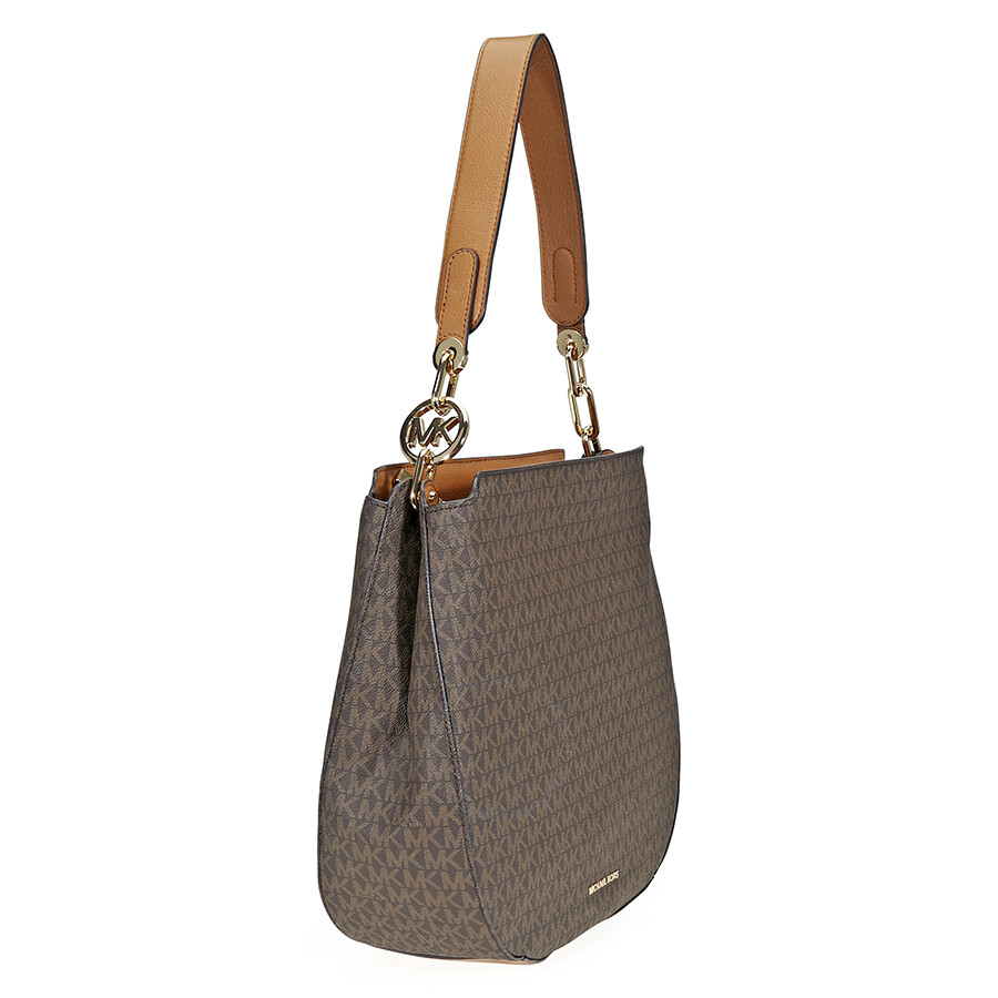 81bd2774f106ec ... sale michael kors large fulton hobo bag brown 7cf14 fdf52