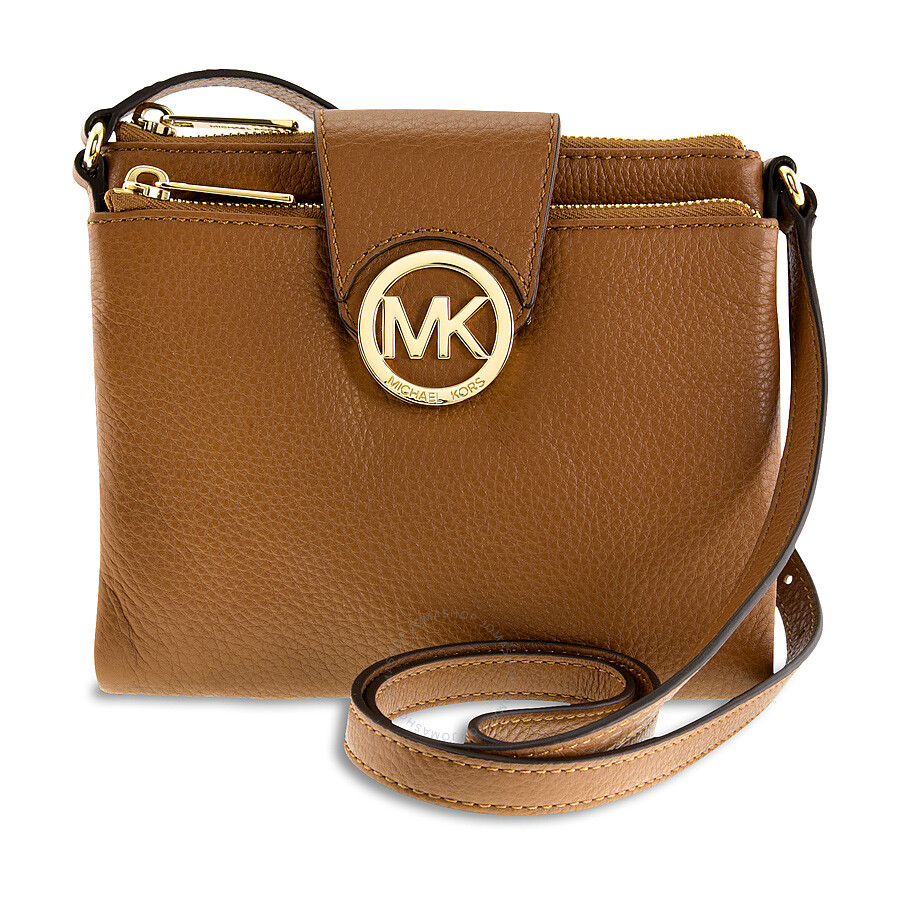75752db3c7f88a Michael Kors Large Fulton Pebbled Crossbody in Luggage Item No. 32H1GFTC3L