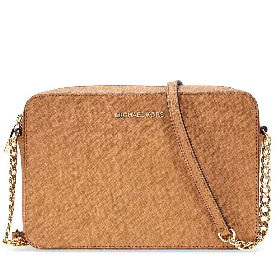 af5cdae4ecd0c6 Michael Kors Large Jet Set Crossbody Bag - Acorn Item No. 32S4GTVC3L-532