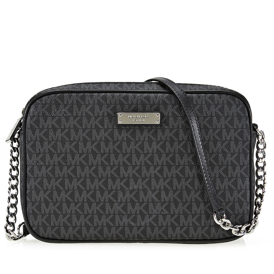 0efcd0bba24823 Michael Kors Large Jet Set Signature Crossbody - Black Item No.  32S7SJSC7B-001