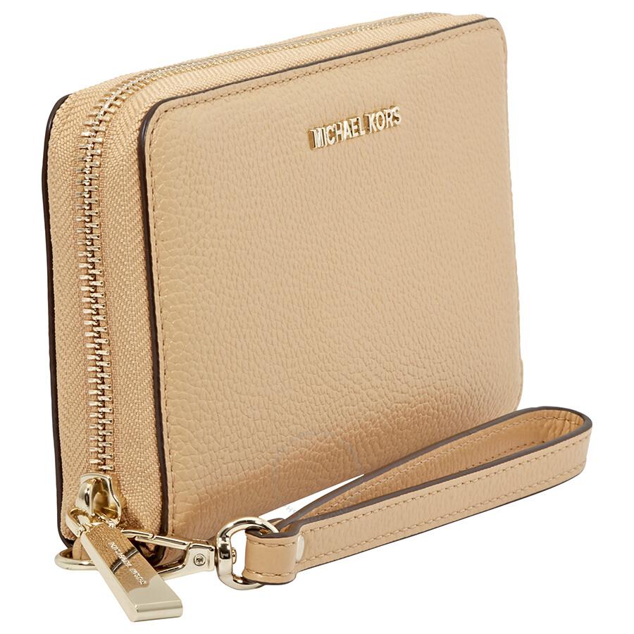 c3f224c2ca35 Michael Kors Large Multifunction Phone Wallet- Butternut - Michael ...
