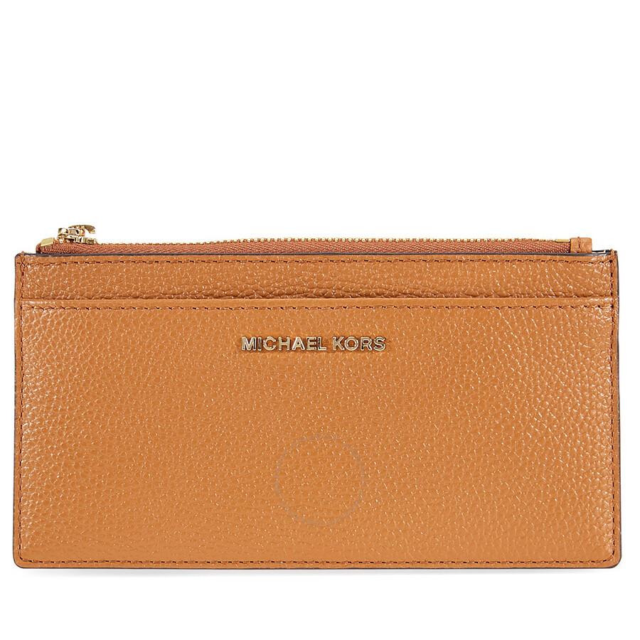 e15925b8eaac Michael Kors Large Leather Card Case- Acorn - Michael Kors Handbags ...