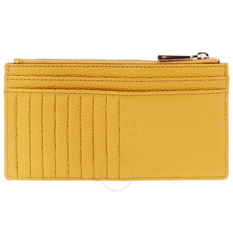 22347b8cedd2 Michael Kors Large Leather Card Case- Marigold Item No. 32S8GF6D7L-706