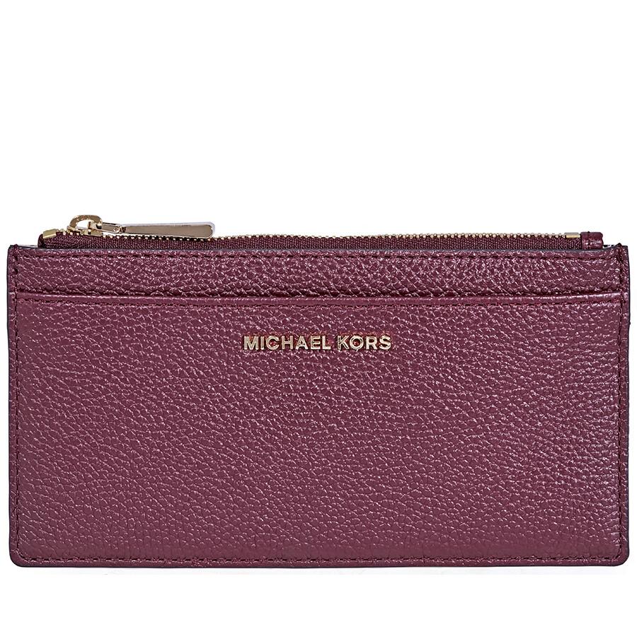a0a8eb24b949d Michael Kors Large Leather Card Case - Oxblood Item No. 32S8GF6D7L-610
