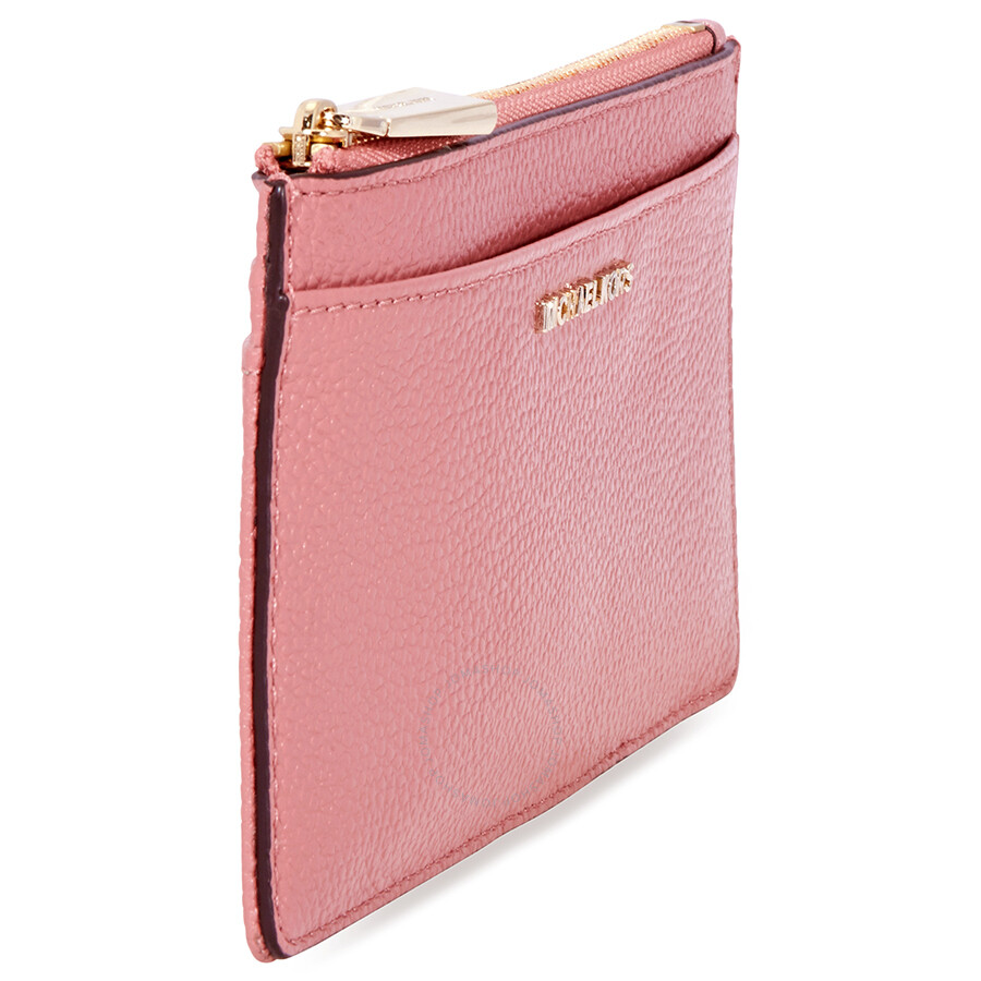 158fba1b6f78 Michael Kors Large Pebbled Leather Slim Card Case- Rose - Michael ...