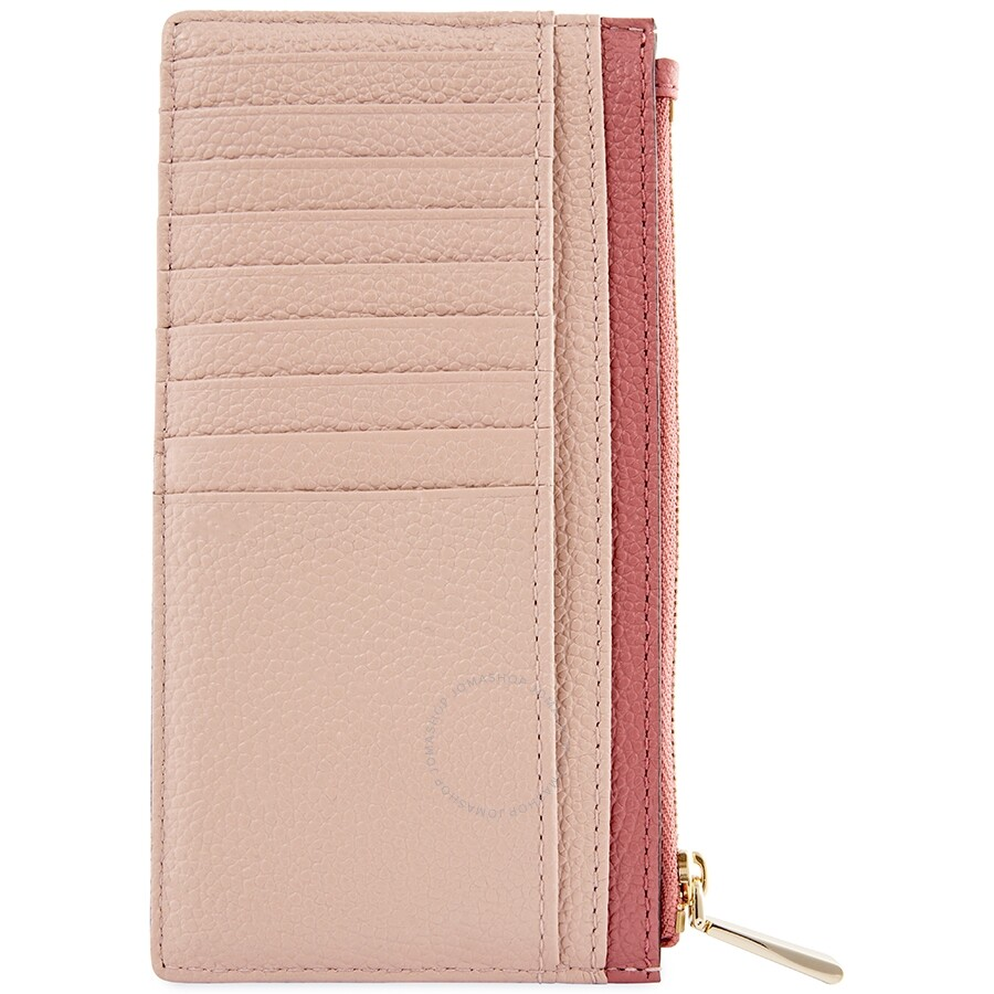 1ef861d64ba831 Michael Kors Large Slim Zip Card Case- Soft Pink/Multi - Michael ...