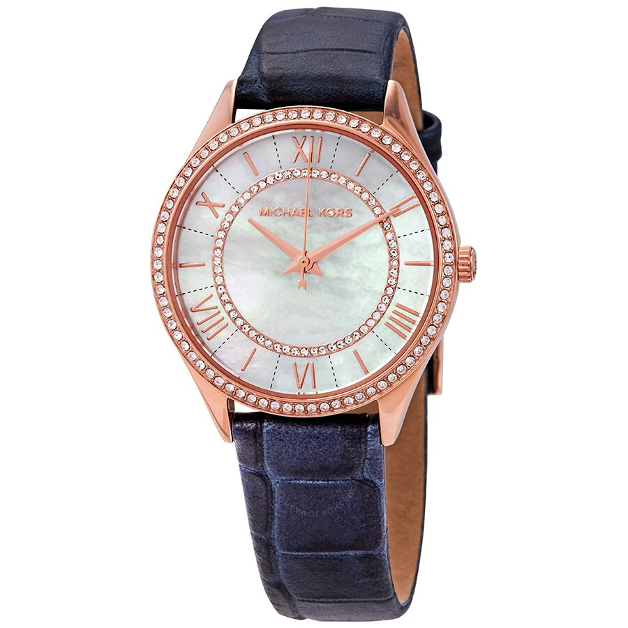 0228b1d1c8a1 Michael Kors Lauryn Crystal Mother of Pearl Dial Ladies Watch MK2757 ...