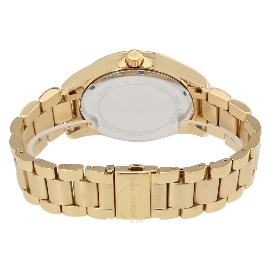 da228cef947f ... Michael Kors Layton Blue Crystal Pave Dial Gold-tone Ladies Watch MK6243