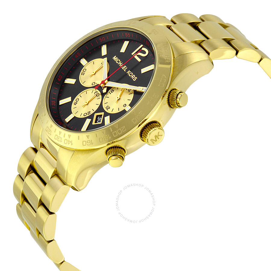 b434dac1f4d1 ... Michael Kors Layton Chronograph Black Dial Gold-tone Men s Watch MK8246  ...