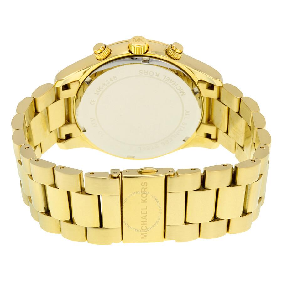 6d2f70bf97e1 ... Michael Kors Layton Chronograph Black Dial Gold-tone Men s Watch MK8246