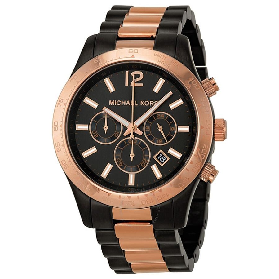 64acf50817a7 Michael Kors Layton Chronograph Gunmetal Unisex Watch MK8208 ...