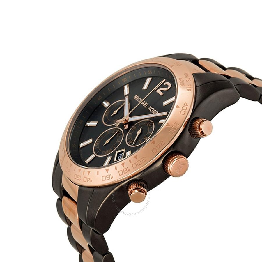 9e4152292a85 ... Michael Kors Layton Chronograph Gunmetal Unisex Watch MK8208 ...