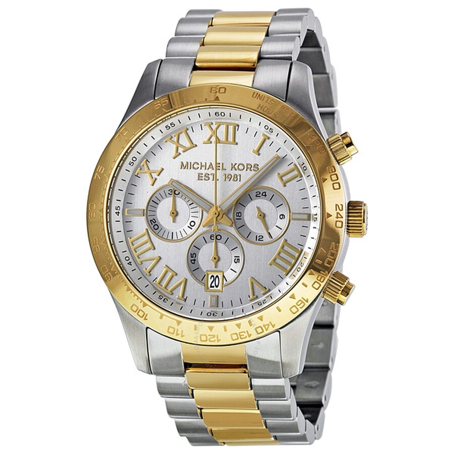 7899b83fae60 Michael Kors Layton Chronograph Two-tone Men s Watch MK8229 - Layton ...