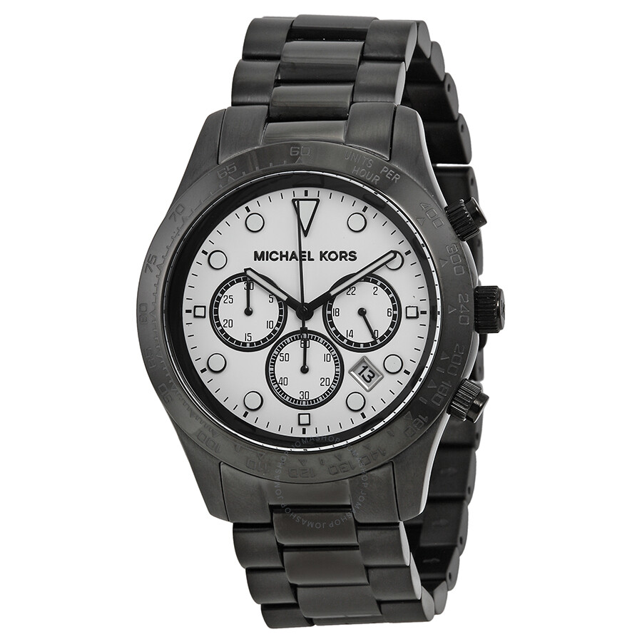 Michael kors layton chronograph white dial men 39 s watch mk6083 layton michael kors watches for Watches michael kors