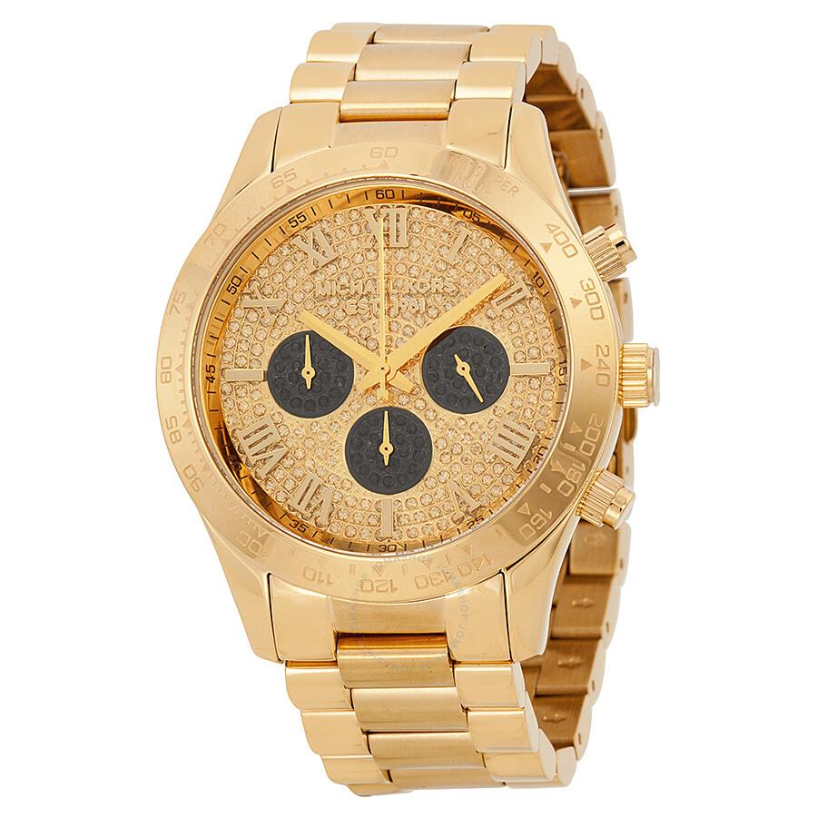 967f000d4082 Details about Michael Kors Layton Glitz Chronograph Ladies Watch - MK5830