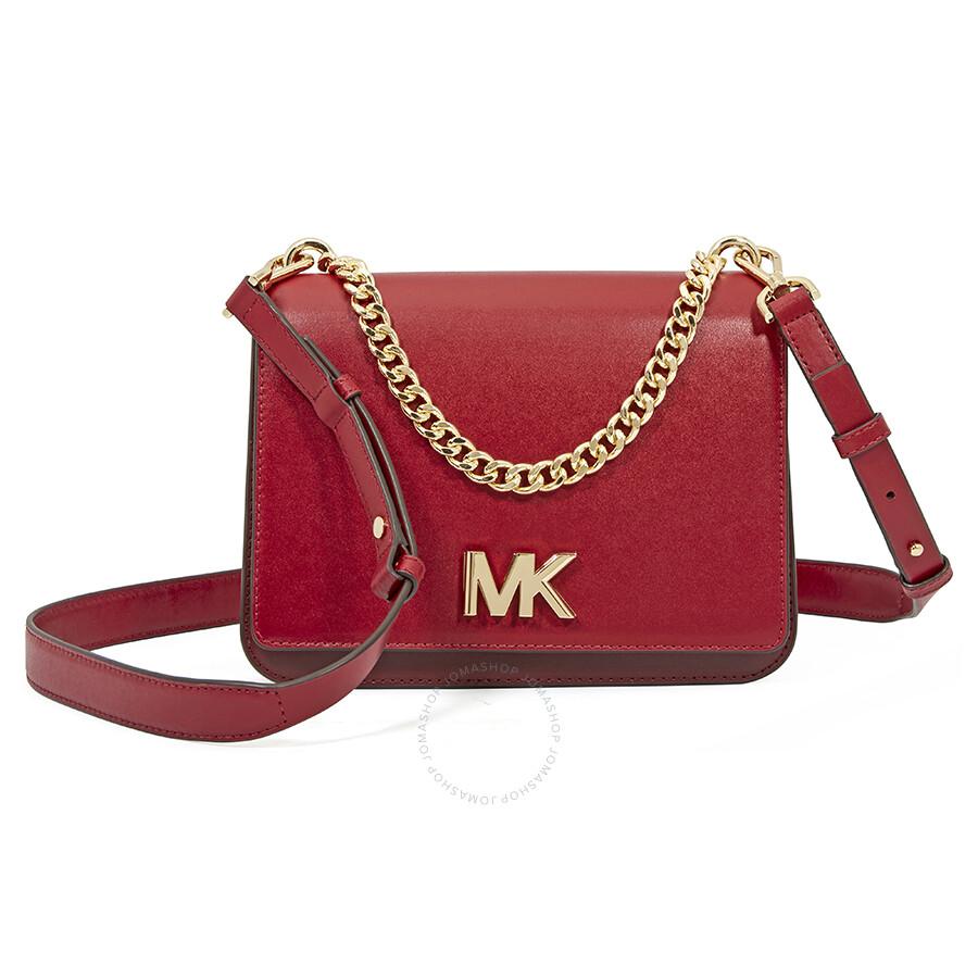 Michael Kors Leather Crossbody Bag Red