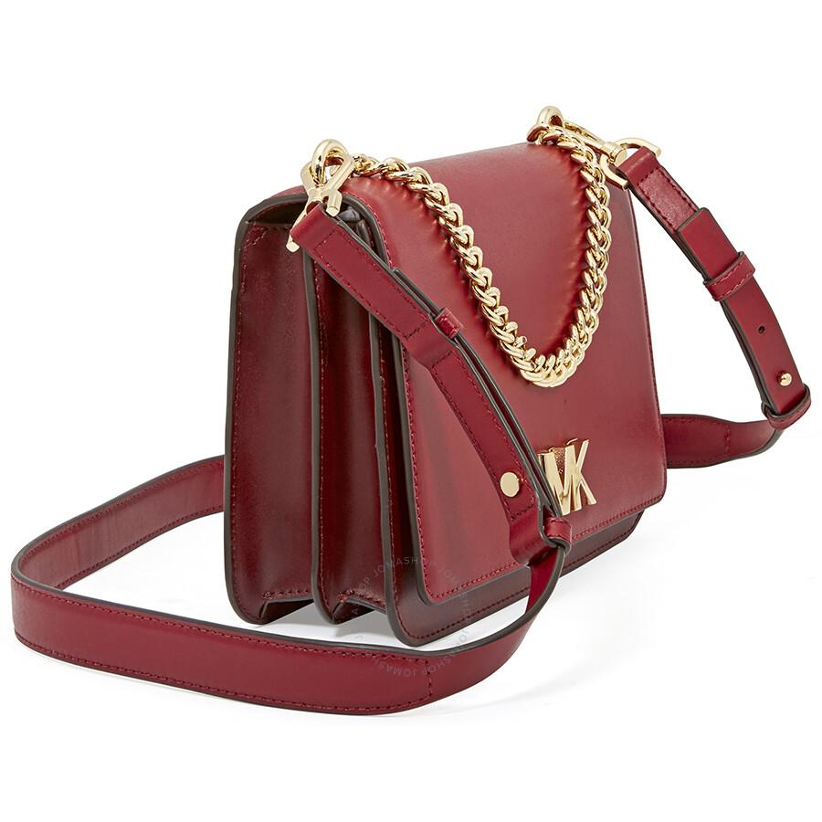 69c938be322f Michael Kors Leather Crossbody Bag- Red - Michael Kors Handbags ...