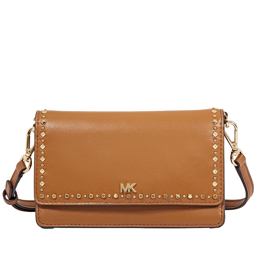 4e41792f299b Michael Kors Leather Phone Cross-Body Bag- Acorn Item No. 32F8GF5C7X-203