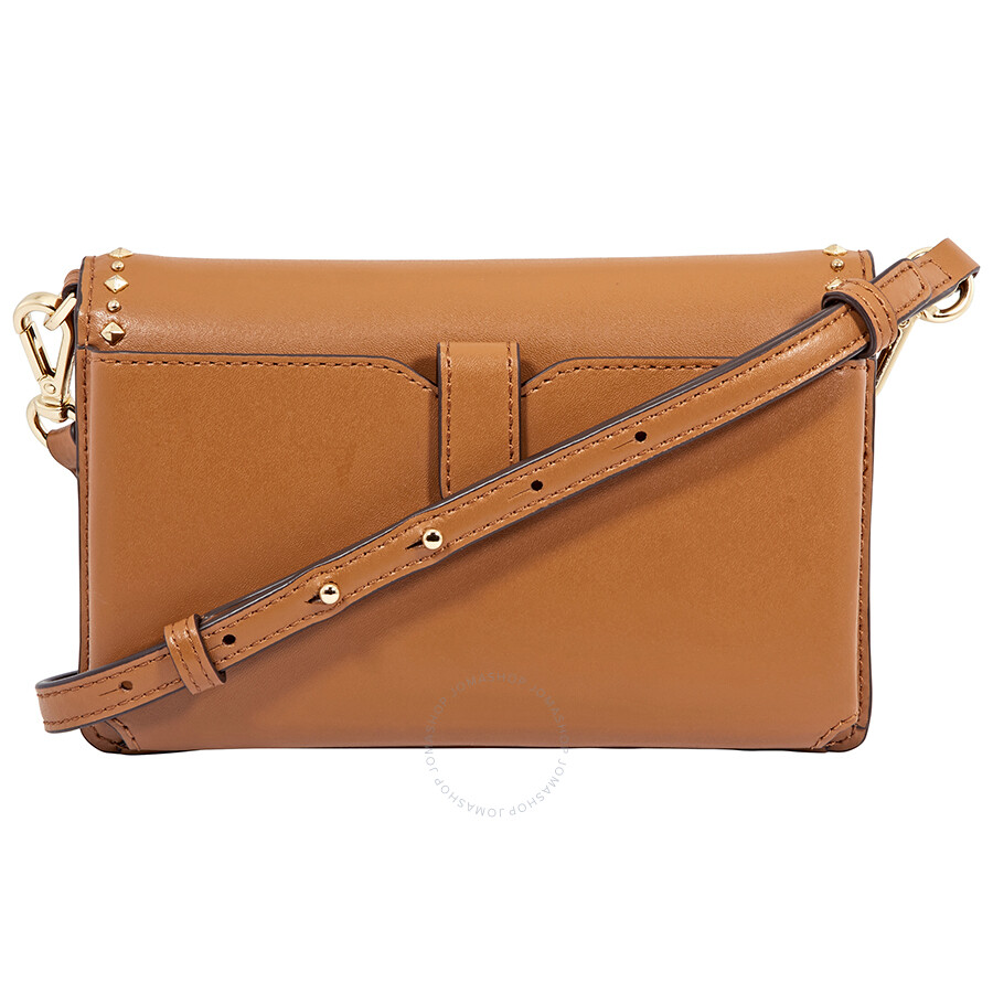 920439763312 Michael Kors Leather Phone Cross-Body Bag- Acorn - Michael Kors ...