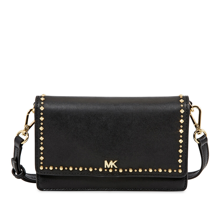 Michael Kors Leather Phone Cross Body Bag Black