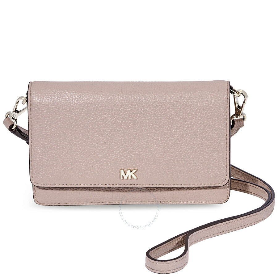 b9684f6a53a5 Michael Kors Leather Phone Crossbody Bag - Fawn Item No. 32T8TF5C9T-133