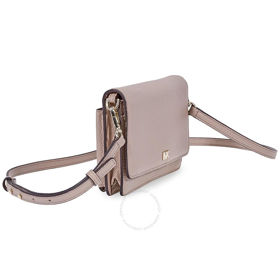 869535cb363264 Michael Kors Leather Phone Crossbody Bag - Fawn - Michael Kors ...