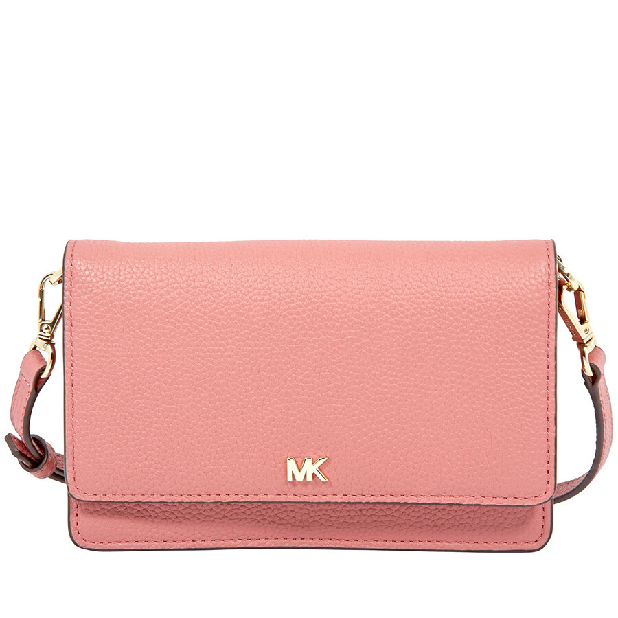 49913b085a37 Michael Kors Pebbled Leather Convertible Crossbody- Rose Item No.  32T8TF5C9T-622