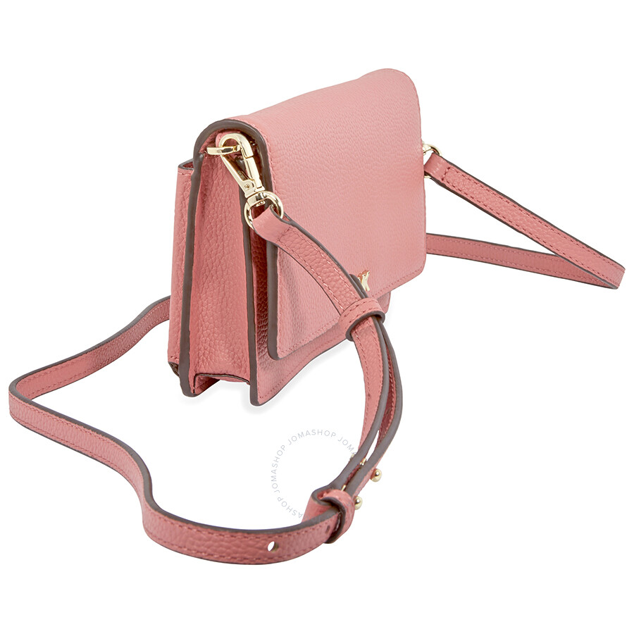c8d75f3187eb Michael Kors Pebbled Leather Convertible Crossbody- Rose - Michael ...