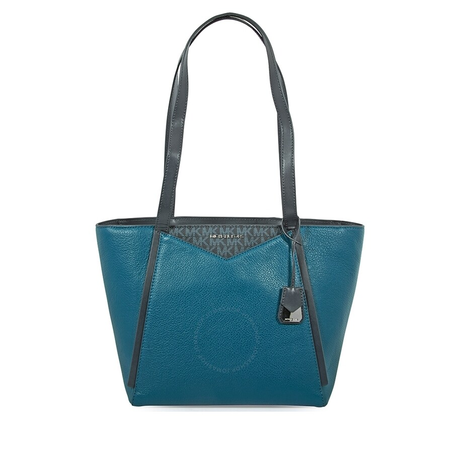 9416c0880363 Michael Kors Whitney Leather Tote- Teal - Michael Kors Handbags ...