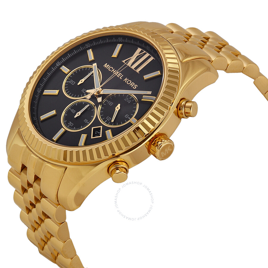 240cd43c4353 ... Michael Kors Lexington Chronograph Black Dial Men s Watch MK8286 ...