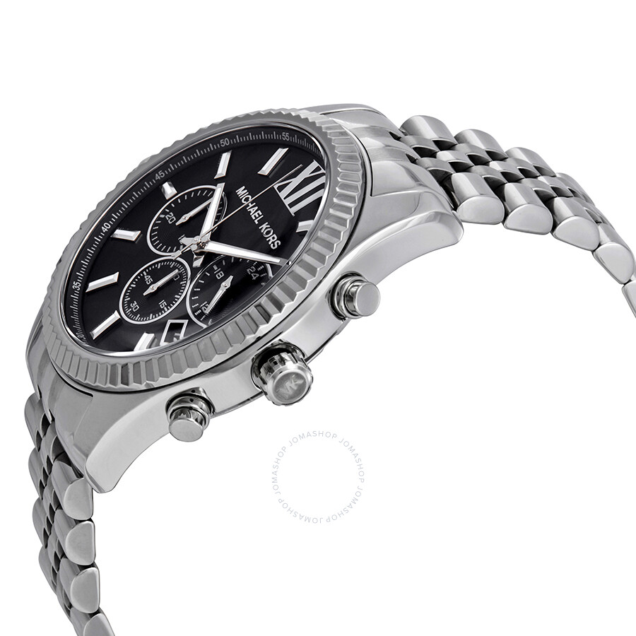 f59ca2fc1cbf ... Michael Kors Lexington Chronograph Black Dial Men s Watch MK8602 ...
