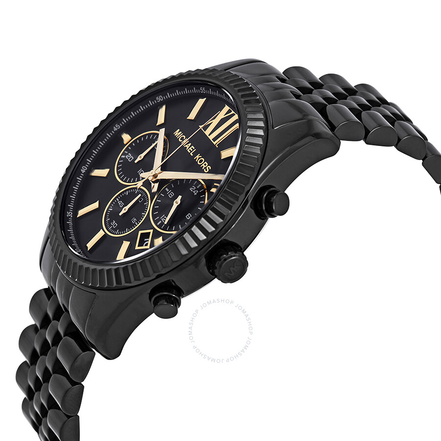 eeb8dd5192e8 ... Michael Kors Lexington Chronograph Black Dial Men s Watch MK8603 ...
