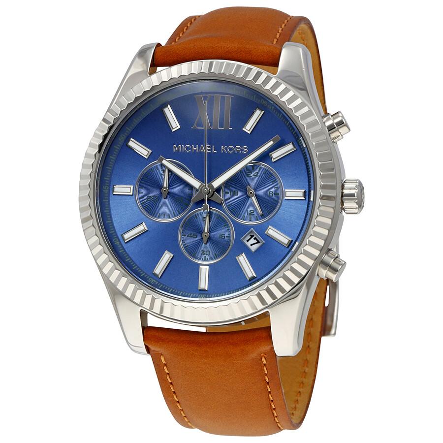 41ef987e220 Michael Kors Lexington Blue Dial Men s Chronograph Watch MK8537 ...