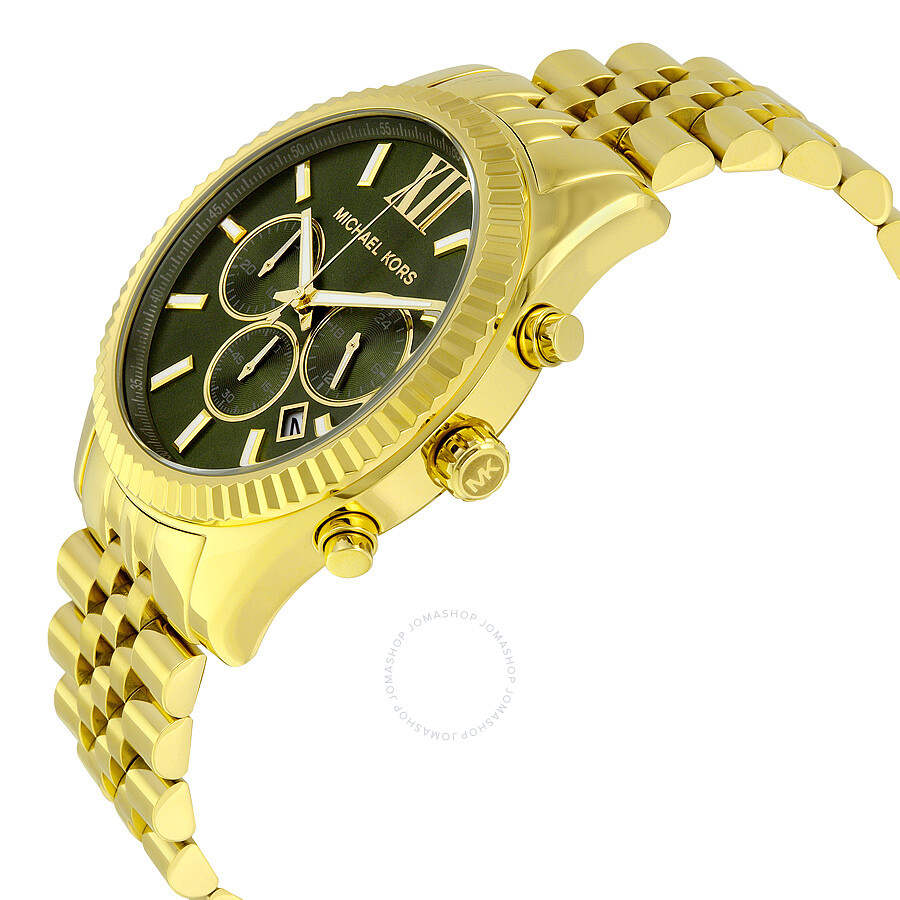 f717c8fcaee ... Michael Kors Lexington Chronograph Green Dial Men s Watch MK8446 ...