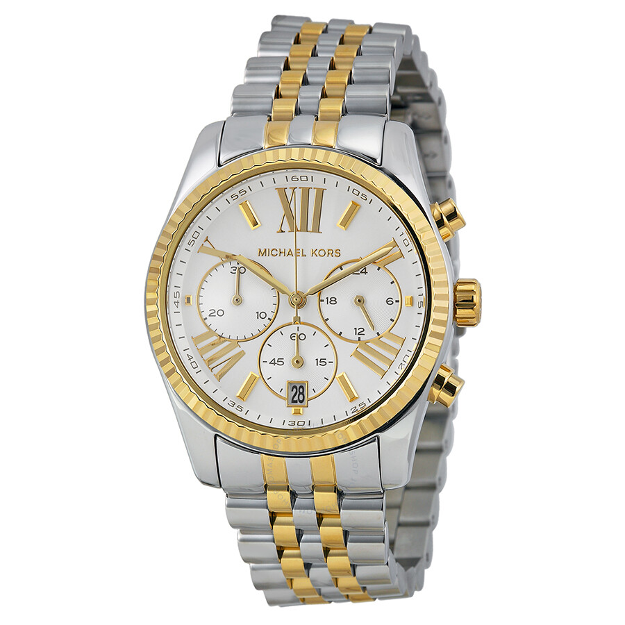 michael kors chronograph of pearl two