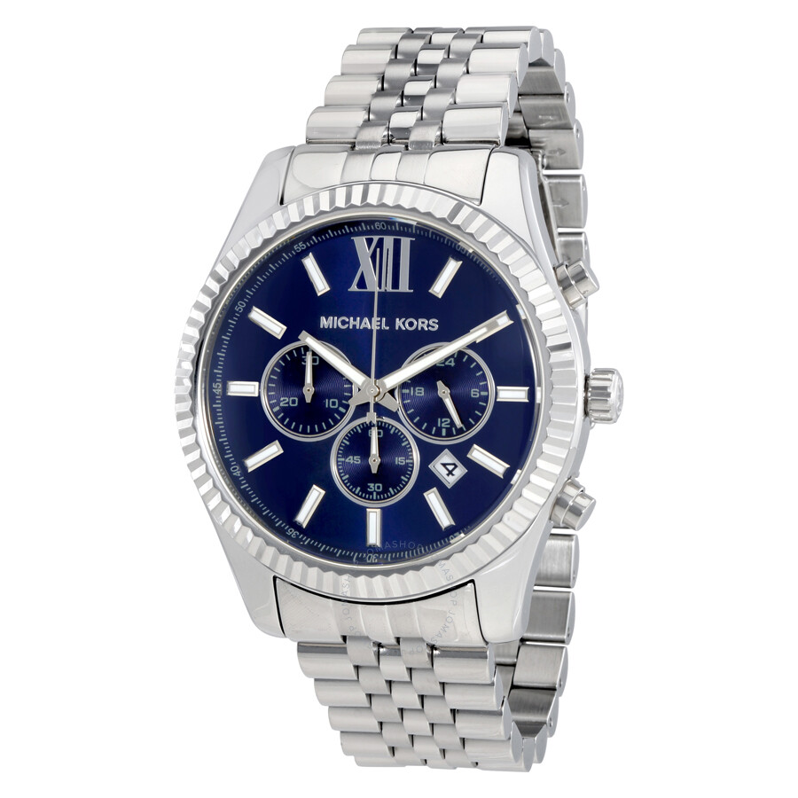 Michael Kors Lexington Chronograph Navy Dial Men\u0027s Watch