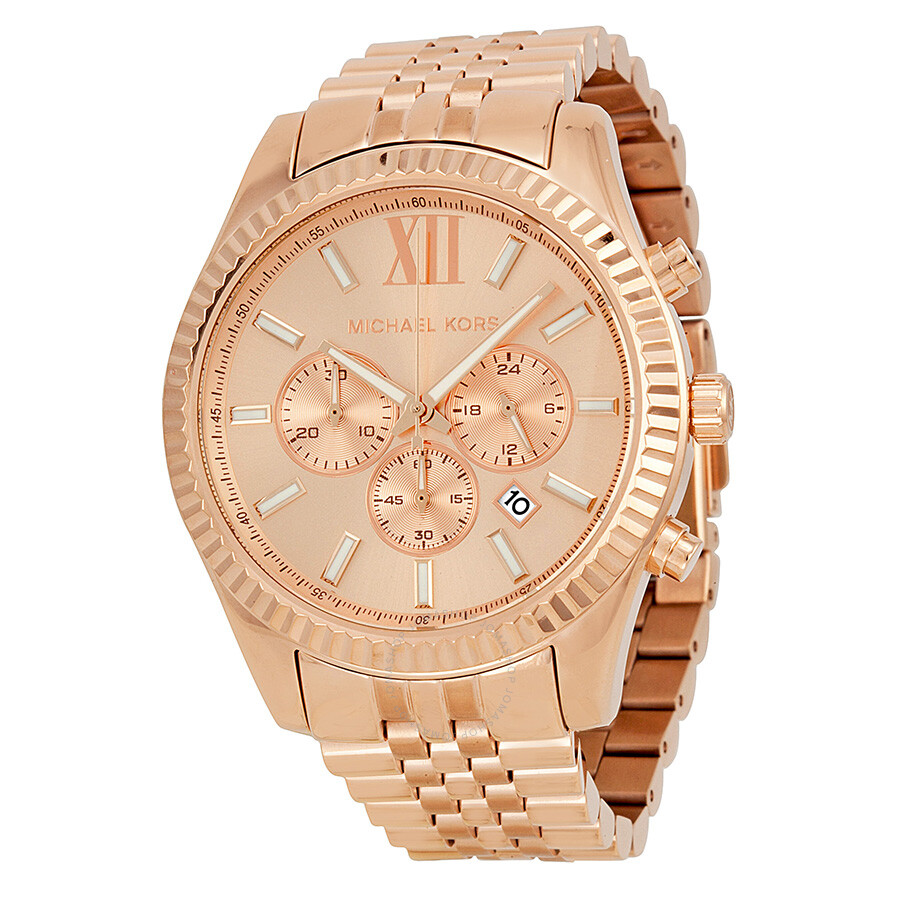 michael kors chronograph gold