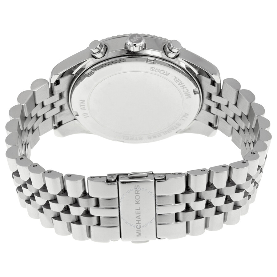 83113f209f8d Michael Kors Lexington Chronograph Silver Dial Men s Watch MK8405 ...