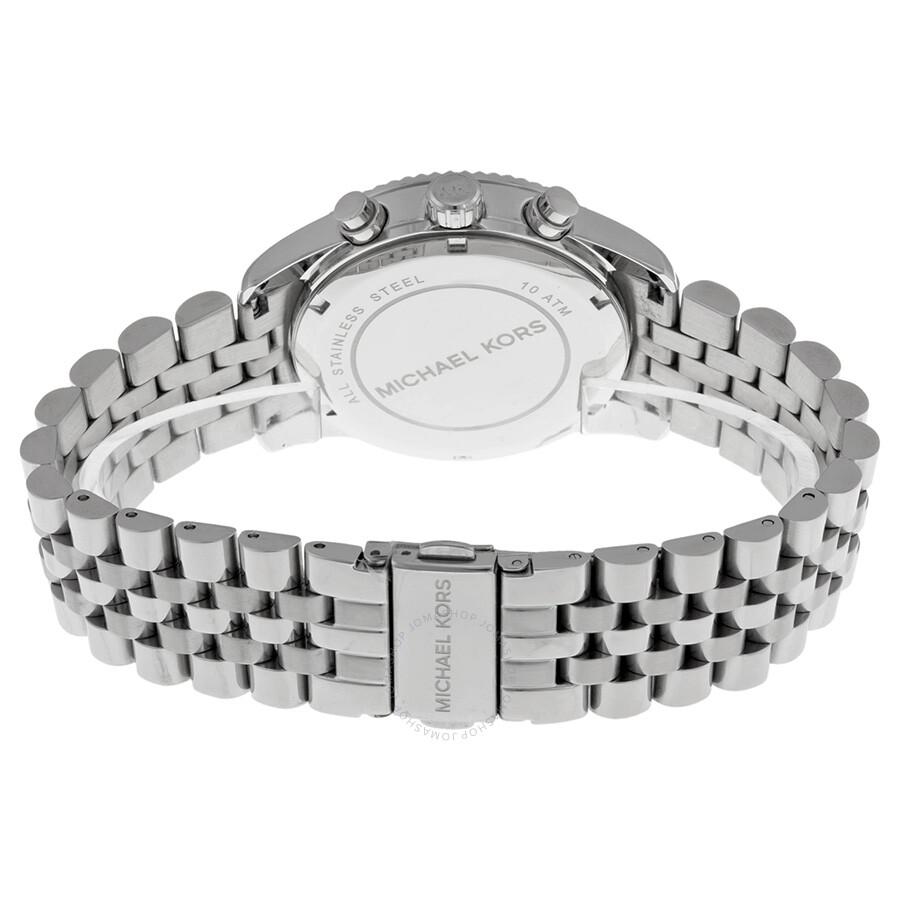 7a3b1730d5e6 ... Michael Kors Lexington Chronograph Stainless Steel Ladies Watch MK5555  ...