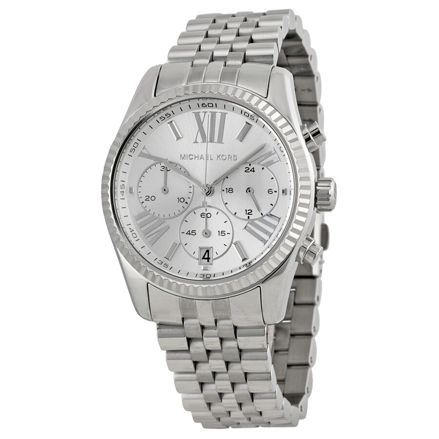 bb661732a9db Michael Kors Lexington Chronograph Stainless Steel Ladies Watch MK5555 ...