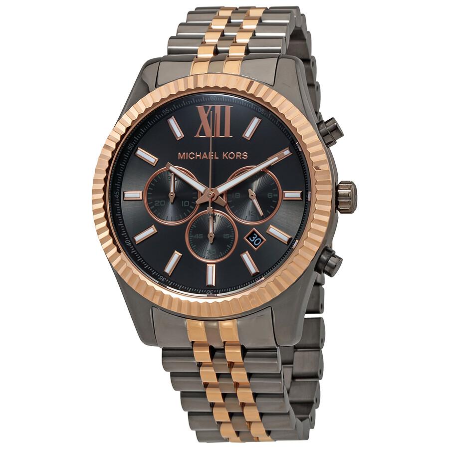 top brands amazon excellent quality Michael Kors Lexington Grey Dial Men's Chronograph Watch MK8561