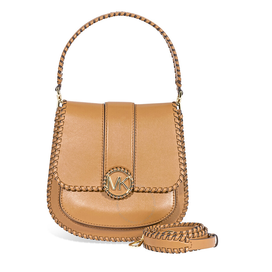 ddc791d9a562 Michael Kors Lillie Medium Leather Messenger Bag- Acorn Item No.  30F8G0LM6O-203