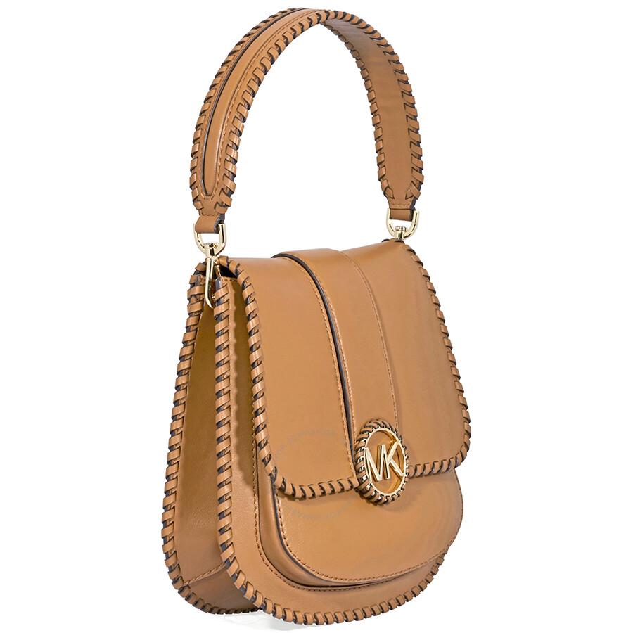 644917979214 Michael Kors Lillie Medium Leather Messenger Bag- Acorn - Michael ...