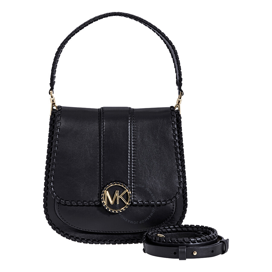 e0d0a2915fee Michael Kors Lillie Medium Leather Messenger Bag- Black Item No.  30F8G0LM6O-001