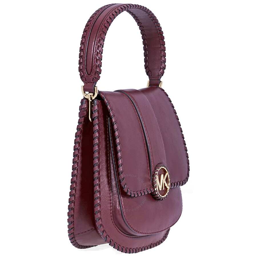 facdde97ba44 Michael Kors Lillie Medium Leather Messenger Bag- Oxblood - Michael ...