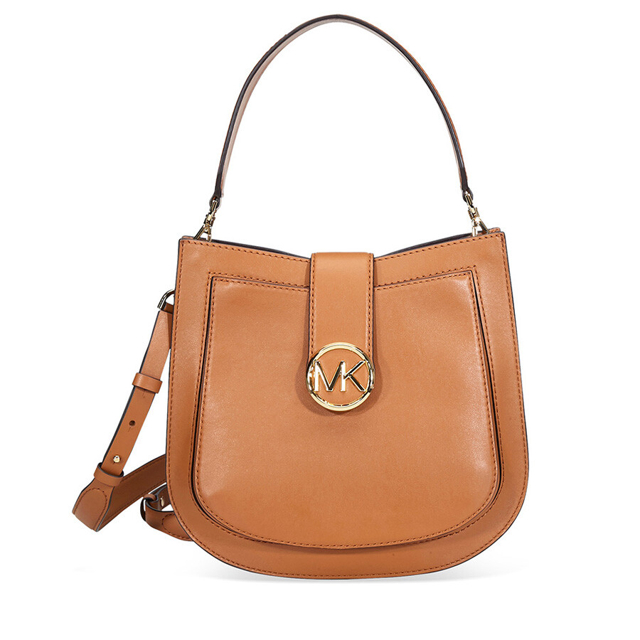 fbccc933f48b56 Michael Kors Lillie Medium Leather Shoulder Bag- Acorn Item No.  30F8G0LM2T-203