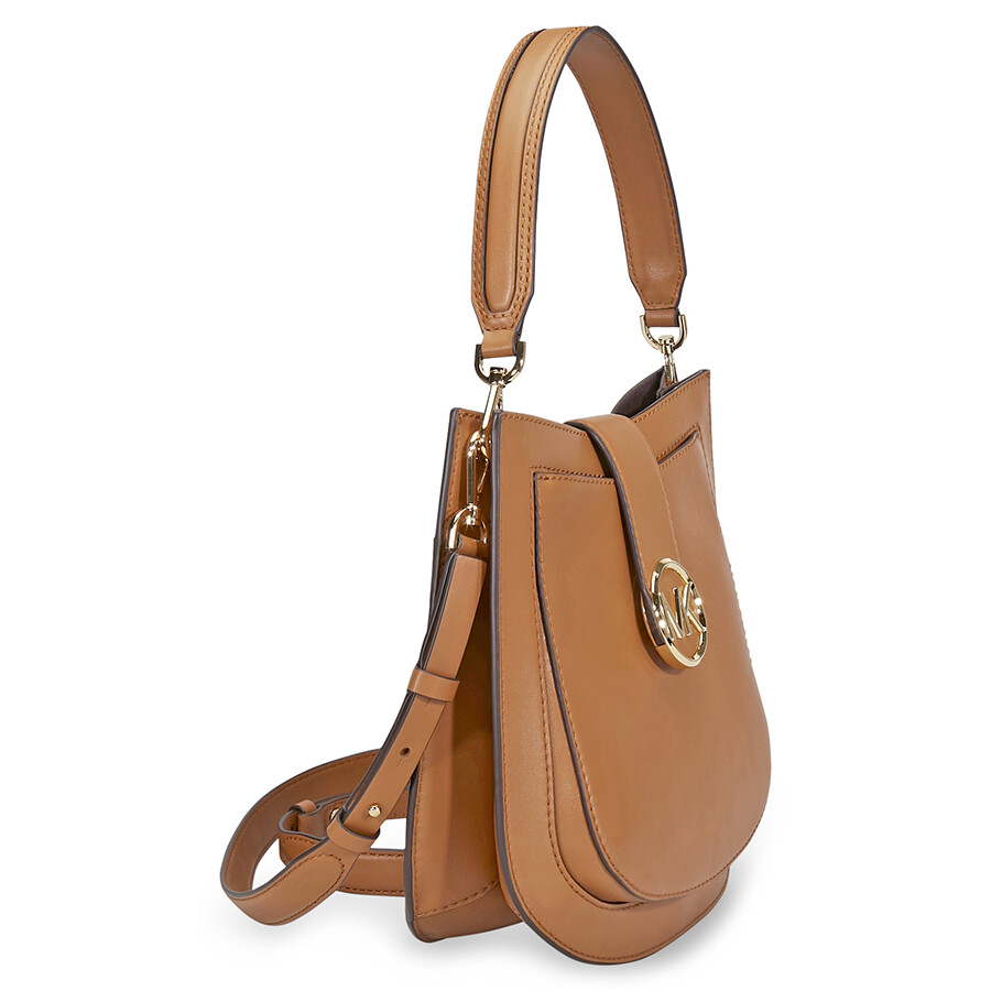 d0713bec90269f Michael Kors Lillie Medium Leather Shoulder Bag- Acorn - Michael ...